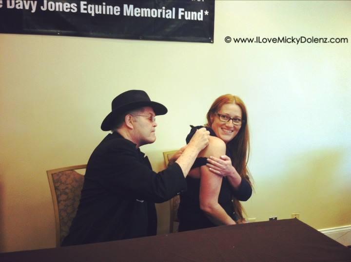 micky dolenz autograph tattoo monkees convention 2014 ilovemickydolenz.com