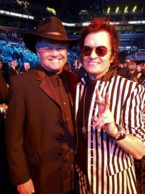 Micky Dolenz and Glenn Hughes Rock and Roll Hall of Fame 2016 (Photo courtesy of disCompany - www.davidsalidor.com)
